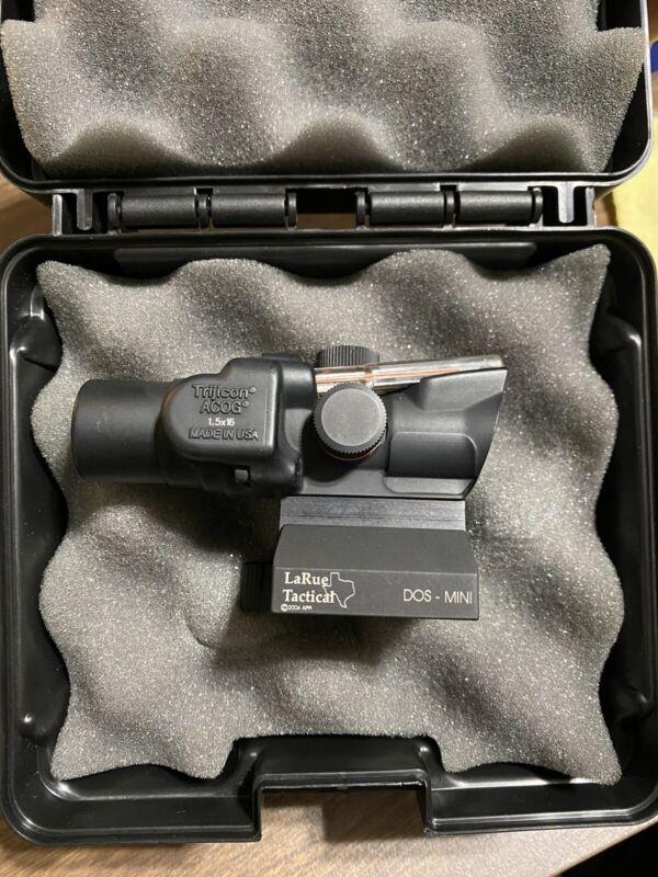 Trijicon 1.5x16S Compact ACOG Dual-Illum Red Dot Sight & Mount TA44 LaRue LT105