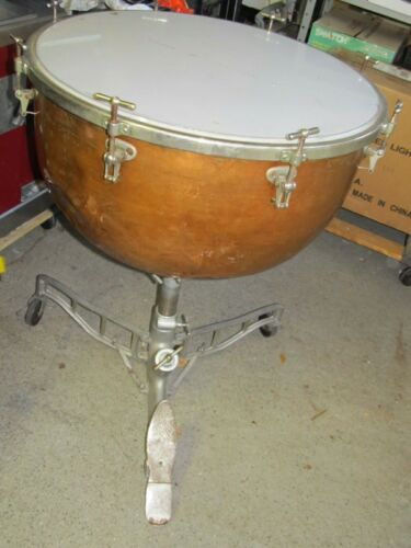 "Vintage LUDWIG 25"" Copper Timpani Drum, ROUGH Condition, PICK UP ONLY INDIANA"