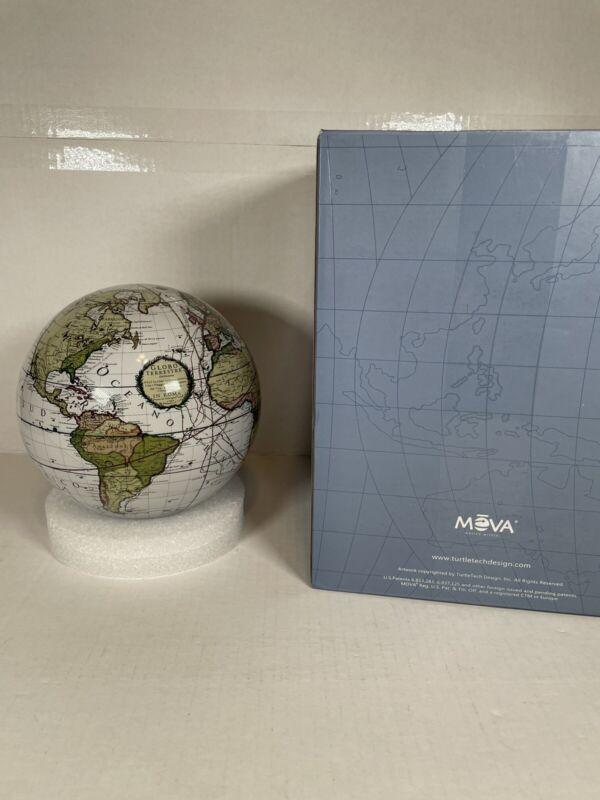 """Antique Terrestrial White MOVA Globe 6"""" Cassini No Stand Or Manual"""