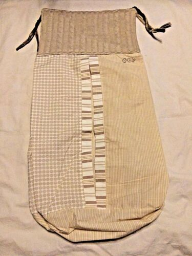 Cocalo Snickerdoodle Baby Nursery Diaper Stacker Neutral Pattern Brown Stripes