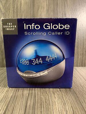 Sharper Image Info Globe Digital Caller ID Real-Time Clock