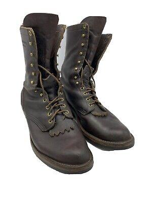 HATHORN Men's Brown Leather EXPLORER Boots Packer 10 1/2D Riding Western