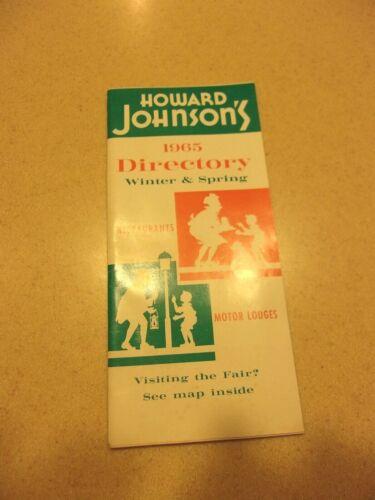 Howard Johnson 1965 motel motor restaurant Directory  guide World