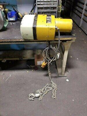 Yale 1 Ton Electric Chain Hoist 230460 Vac 2000 Lb Capacity Kel1-10l15s1