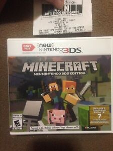 Brand new Minecraft for the New 3Ds
