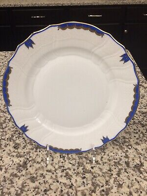 Set Of 6 Herend Princess Victoria Dinner Blue New With UPC