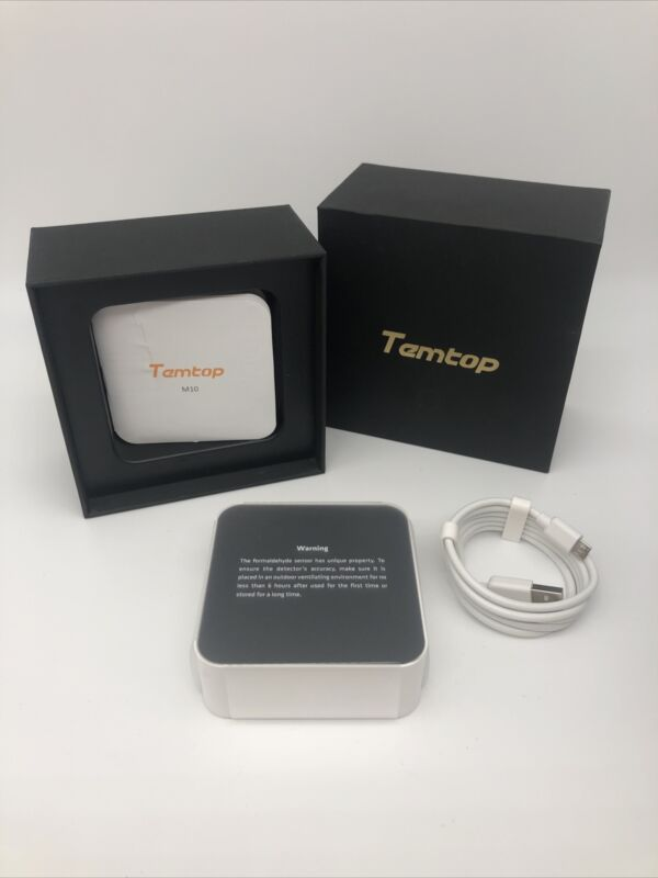Temtop M10 Air Quality Monitor for PM2.5 HCHO TVOC AQI Monitor Real Time Home