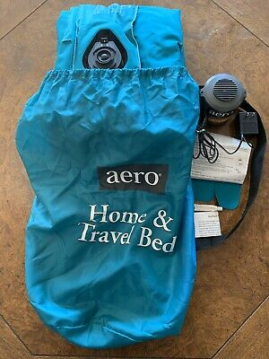 Aero Twin Size Quick Inflate Home & Travel Bed Green Mattress Rechargeable Pump Aero Inflatable Beds