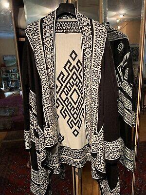 Griechische Muster (Edle Damen Kimono Jacke Gr. 40-44 Neu SCHWARZ WEISS, GRIECHISCHE MUSTER NP59)