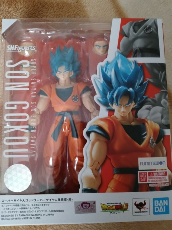 SH FIGUARTS SSGSS GOKU DRAGON BALL SUPER BROLY SEALED