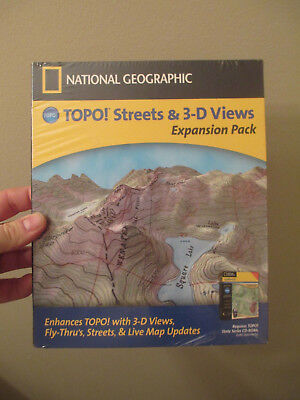 NATIONAL GEOGRAPHIC TOPO STREETS & 3-D VIEWS EXPANSION PACK - GPS USA MAPS