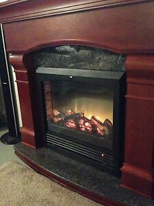 Electric Fireplace - Real GRANITE!