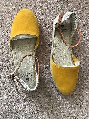 Brand New (size 6) - Hudson Yellow Suede Espadrilles