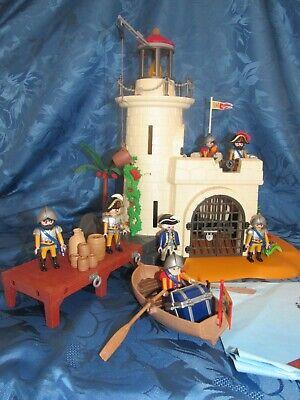 (n) phare prison espagnole playmobil avec accessoires + barque