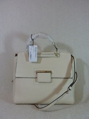 NWT FURLA Conchiglia Natural Pebbled Leather Artesia Shoulder Bag $628