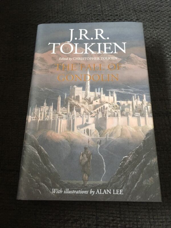 "J.R.R. TOLKIEN signed signiert ALAN LEE ""THE FALL OF GONDOLIN"" Buch InPerson"