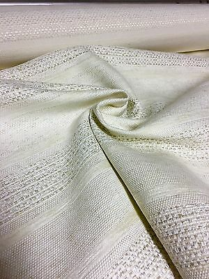 SUPER LUXURIOUS CREAM CHENILLE UPHOLSTERY FABRIC 5.2 METRES
