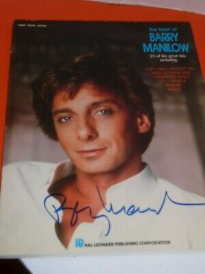 Autographed The Best of Barry Manilow 25 Great Hits Song