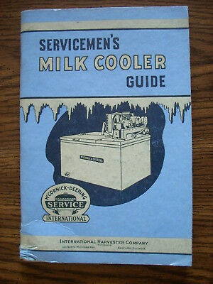 Ih Farmall Mccormick Deering International Milk Cooler Service Manual