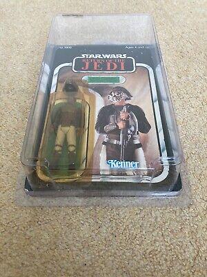 Vintage Star Wars ROTJ Lando Calrissian Skiff Guard 65 Back Unpunched Moc