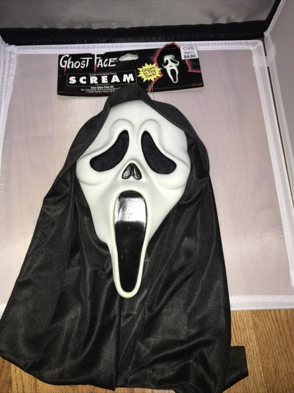 Ghost Face As Seen In Scream Glow In The Dark Halloween Mask Fun World NEW