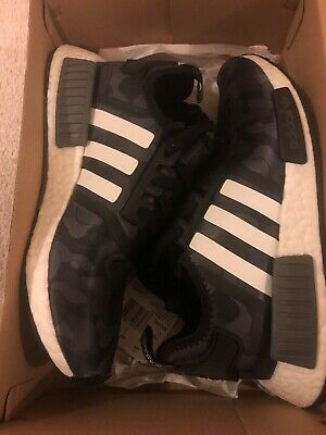 BNIB Adidas NMD R1 Bape Black Camo US 6 DS Yeezy A Bathing Ape 350 750 Collab