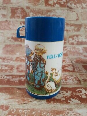 Vintage 1978 Holly Hobbie and Robby Lunchbox Thermos Aladdin Thermal Bottle