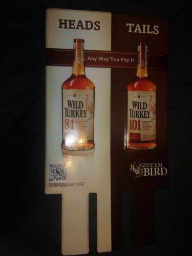 WILD TURKEY 81/101 BOURBON WHISKEY LARGE 12x17 METAL SIGN Give