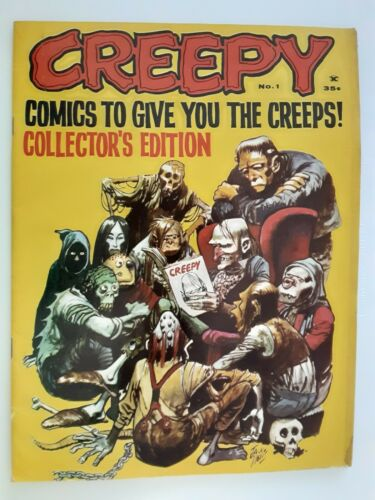 Creepy Magazine #1  Fine FN 6.0 Condition 1964 Jack Davis Art Scarce 1st Issue