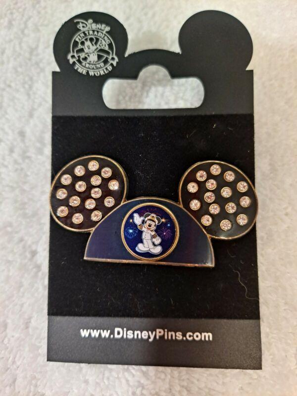 Disney Pin Mickey Hat/Ears Capt. Mickey, Jeweled, Disney Cruise Lines BRAND NEW