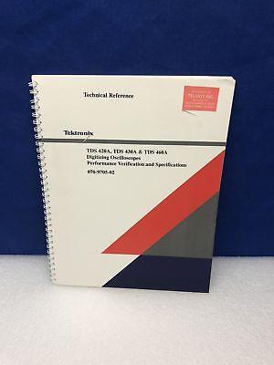 Tektronix Tds 420 430a 460a Performance Verification Specification Manual