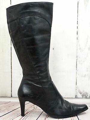 TAMARIS ☘ Damen Stiefel Gr. 38 Damen Leder Schwarz Schuhe Shoes Boots