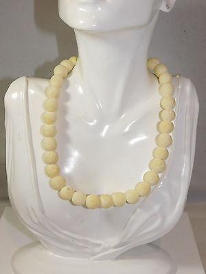 Natural Sponge Coral Necklace - Natural White Raw Sponge Coral Bead strand 16