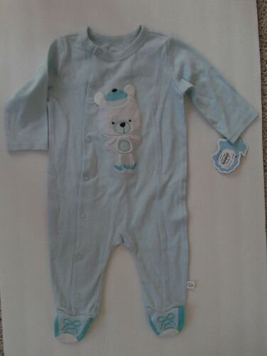FIRST MOMENTS ONE PIECE - LIGHT BLUE - 6 MONTHS -NWT