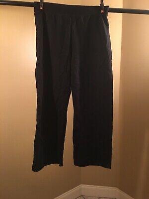Hanes Women's Fleece Sweatpant Open-Bottom Leg Size Large Black  Womens Open Bottom Sweatpants