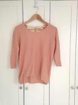Used, T. BABATON Women's sz XXS Rose Coral Pink Scoop Ballerina Back Knit Sweater Top for sale  Chicago