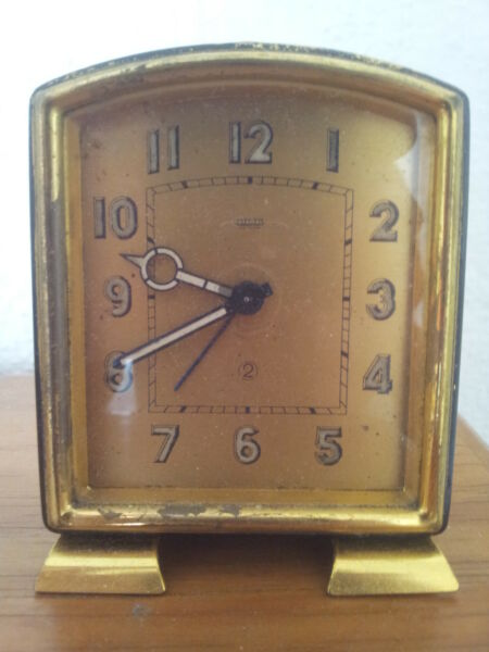 JAEGER LE COULTRE ANTIQUE BEDSIDE ALARM CLOCK