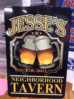 Man Cave Sign Personalized Metal Sign Bar Pub Sign Tavern Sign Metal - Tavern Man