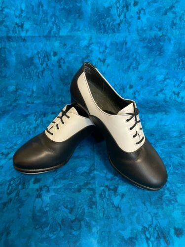 Capezio Black and White Gold Series tap shoes Size 6M