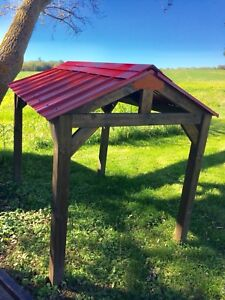 Mini Timber Frame with red roof