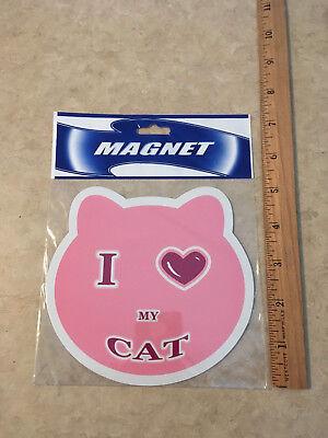 I LOVE MY CAT MAGNET DECORATION CAR TRUCK PAW FRIDGE MAN CAVE CHRISTMAS GAG GIFT