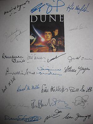 Dune Signed Film Script X23 David Lynch Kyle MacLachlan Sting Sean Young Witt RP