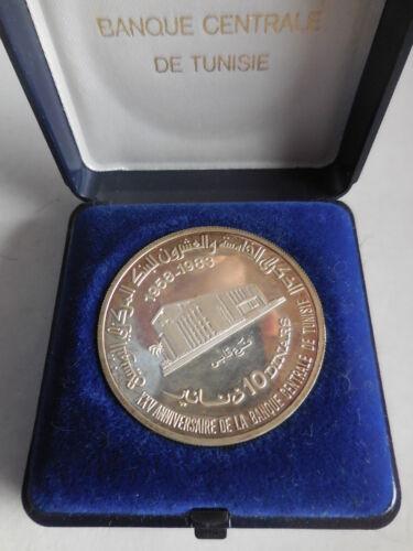Tunisie 10 dinars 1983 25° banque central in box
