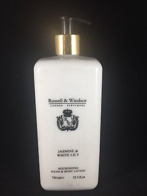 RUSSELL AND WINDSOR NOURISHING HAND AND BODY LOTION JASMINE AND WHITE LILY (Russell And Windsor Jasmine And White Lily)