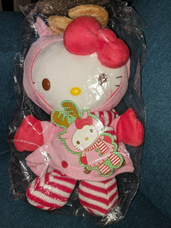 Hello Kitty Small Plush Doll in Reindeer outfit 2010 Collector