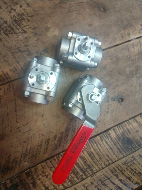 """Flowserve Worcester 1-1/2"""" Stainless Steel Ball Valve 11/2 4466RTSE R2"""
