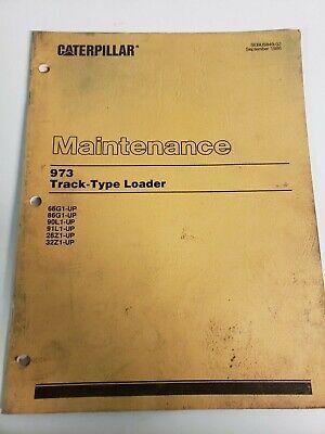 Cat Caterpillar 973 Track Type Loader Lubrication Maintenance Manual