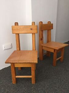 Set of 2 Kids strong wooden chairs Ormond Glen Eira Area Preview