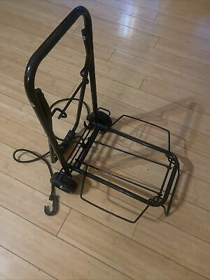 Folding Hand Cart Dolly Fold Up Luggage Truck Moving Cart Black W2 Fixed Wheels