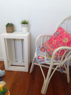 Crate Box White - Table, Side Table or Toy Box wooden Coolangatta Gold Coast South Preview